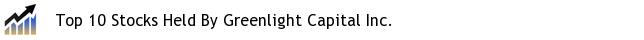 Top 10 Stocks Held By Greenlight Capital Inc.