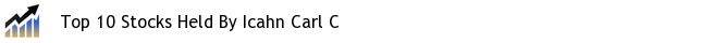 Top 10 Stocks Held By Icahn Carl C